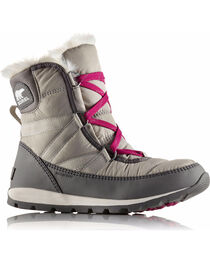 Sorel Women's Grey Whitney Short Lace Boots - Round Toe , , hi-res