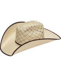 Twister 10X Criss Cross Vent Bound Edge Straw Cowboy Hat, , hi-res
