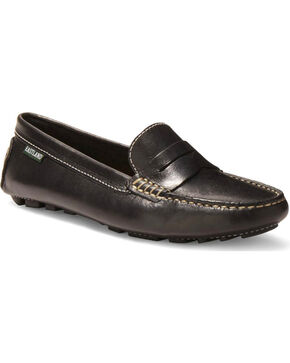 Eastland Women's Patricia Penny Loafer Driving Moc Slip Ons, Black, hi-res