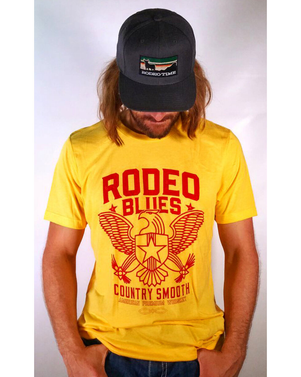 Dale Brisby Men's Rodeo Blues T-Shirt, Yellow, hi-res