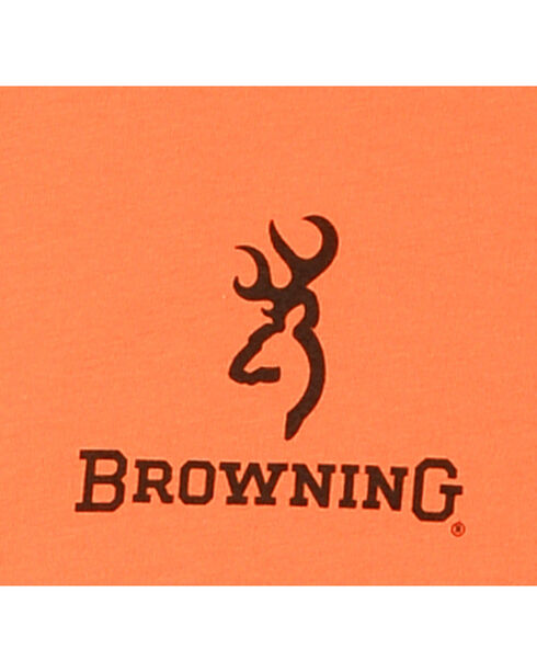 Browning Women's Camo Heart T-Shirt, Orange, hi-res