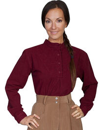 Rangewear by Scully Cotton Embroidered Long Sleeve Top, , hi-res