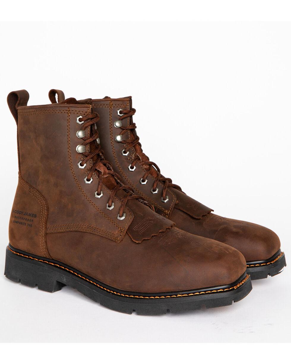 Cody James® Men's Composite Square Toe Waterproof Work Boots, Brown, hi-res