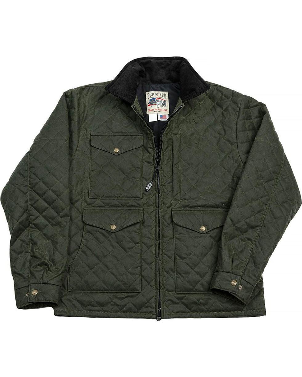 Schaefer Outfitter Men's Loden Blacktail Quilted Rangewax Jacket - Big 2X , Olive, hi-res