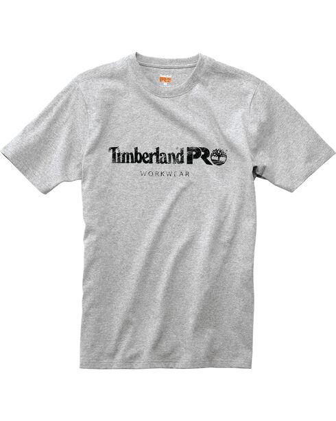 Timberland Pro Men's Workwear Cotton Core Logo Short Sleeve T-Shirt, Heather Grey, hi-res