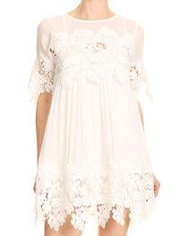 Blush Noir Women's White Lace Dress , , hi-res