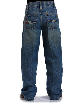 Cinch Boys' Tanner Boot Cut Leg Jeans, Indigo, hi-res