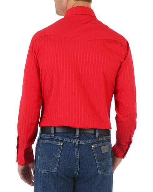 Wrangler Men's Sport Western Long Sleeve Shirt, Red, hi-res