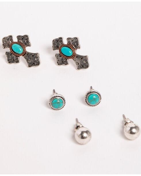 Shyanne Women's Mini Stud Earrings Set, Silver, hi-res