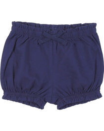 Wrangler Infant Girls' Navy Elastic Waist Shorts, , hi-res