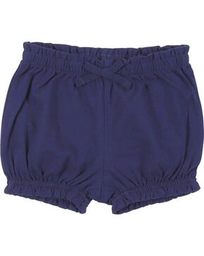 Wrangler Infant Girls' Navy Elastic Waist Shorts, Navy, hi-res