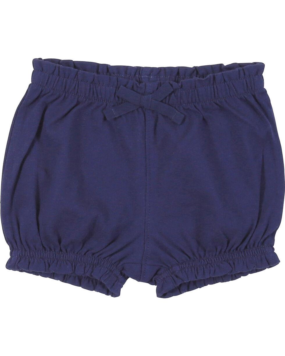 Wrangler Infant Girls' Navy Elastic Waist Shorts, , hi-res