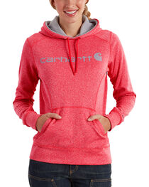 Carhartt Women's Coral Force Extremes Signature Graphic Hooded Sweatshirt , , hi-res