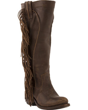 Junk Gypsy by Lane Women's Texas Tumbleweed Western Boots, Chocolate, hi-res