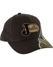 Justin Men's Embroidered Camo Flame Ball Cap, , hi-res