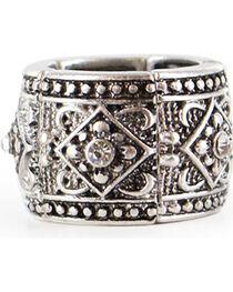 Shyanne® Women's Rhinestone Pattern Ring , , hi-res