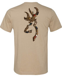 Browning Men's Waterfowl Buckmark Dark Grey Short Sleeve Tee, , hi-res