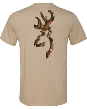 Browning Men's Waterfowl Buckmark Dark Grey Short Sleeve Tee, Grey, hi-res