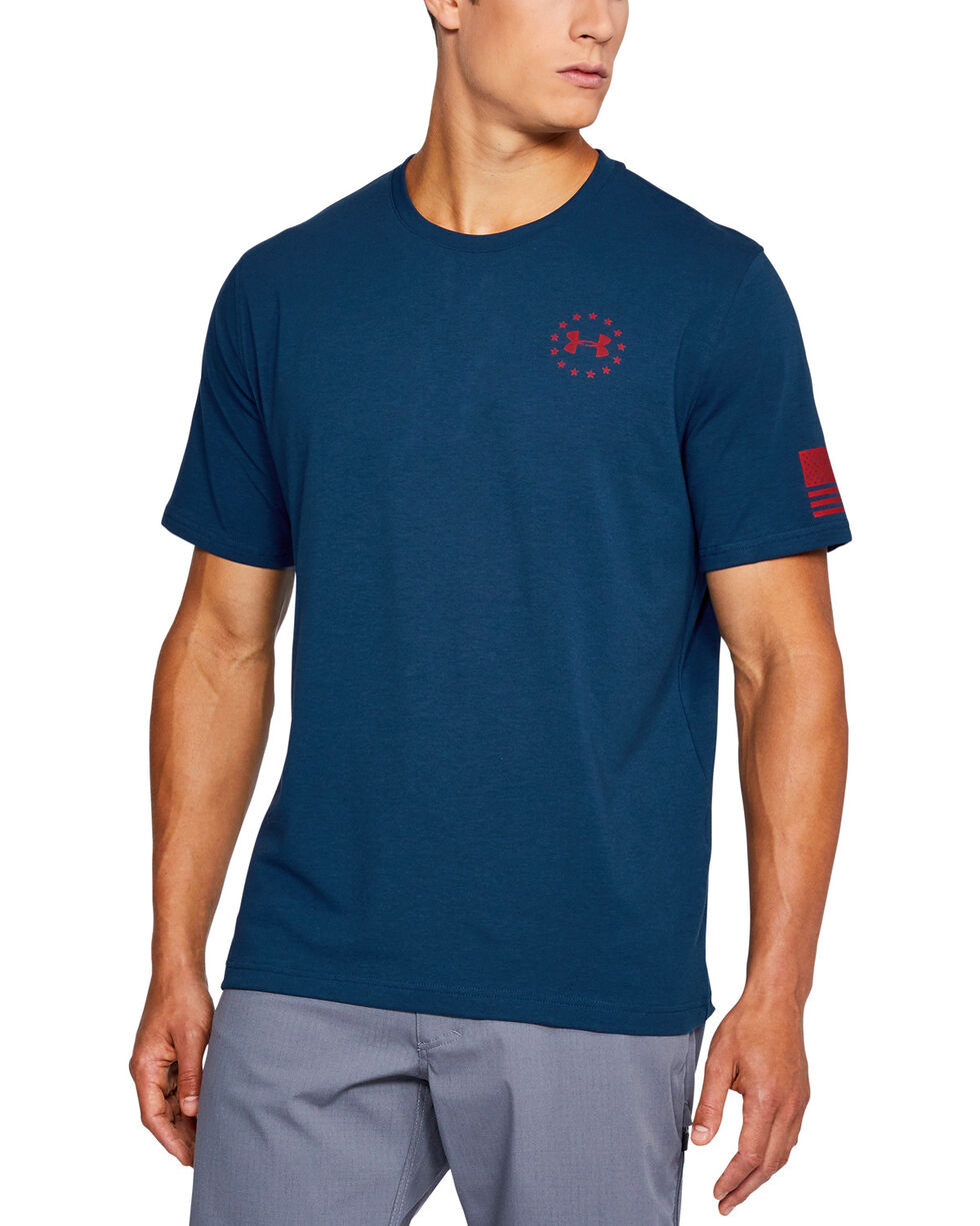 Under Armour Men's Freedom Flag Short Sleeve T-Shirt, Navy, hi-res