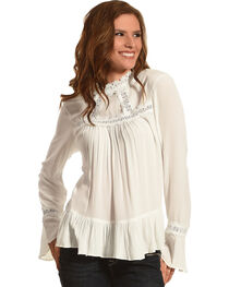 Angel Premium Women's Bette Ruffle Sleeve Top, , hi-res