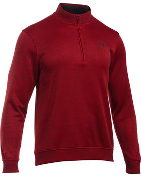 Under Armour Men's Red Storm Sweater Fleece 1/4 Zip Pullover , Red, hi-res