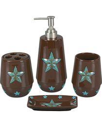HiEnd Accents Turquoise Star 4-Piece Bathroom Set, , hi-res
