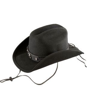 Bullhide Kids' Horsing Around Wool Felt Cowboy Hat, Black, hi-res