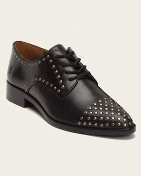 Frye Women's Black Erica Stud Oxford Shoes , Black, hi-res