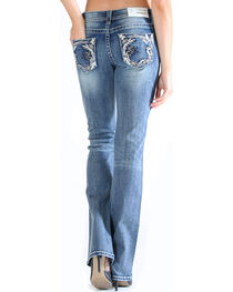 Grace in LA Women's Embroidered Pocket Jeans - Boot Cut , , hi-res