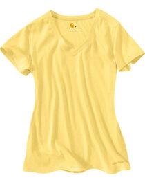 Carhartt Women's V-Neck T-Shirt, Yellow, hi-res