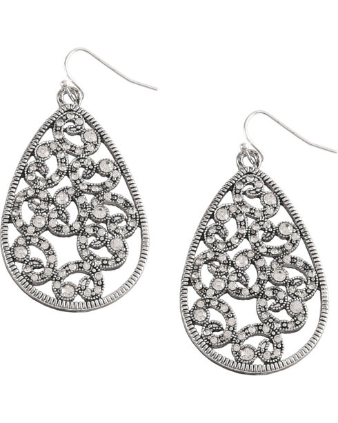 Shyanne® Women's Swirl Jewelry Set, Silver, hi-res