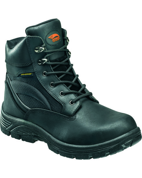 Avenger Men's Lace Up Steel Toe Work Boots, Black, hi-res