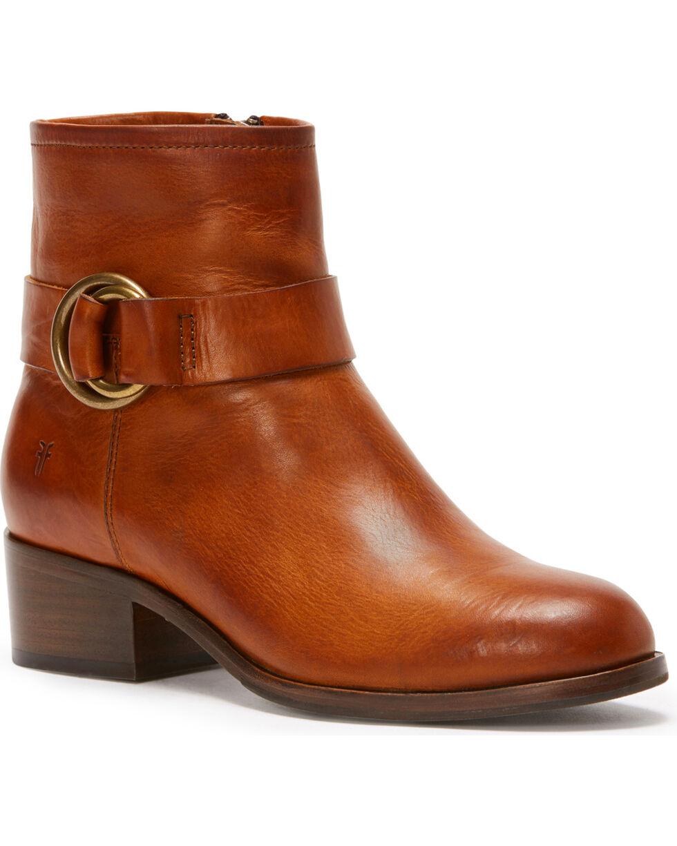 Frye Women's Brown Kristen Harness Short Boots - Round Toe , Brown, hi-res