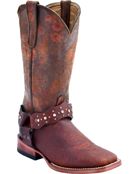 Ferrini Women's Outlaw Floral Western Boots - Square Toe, , hi-res