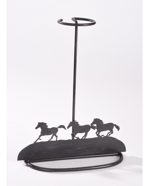 BB Ranch Running Horse Tabletop Hat Holder, Brown, Hi Res