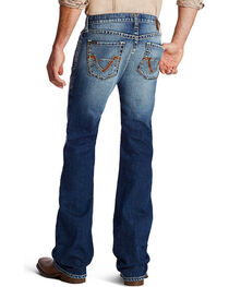 Ariat Men's Embroidered Boot Cut Jeans, , hi-res