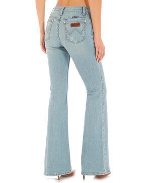 Wrangler Women's Indigo Flare Leg Jeans - High Waist, Indigo, hi-res