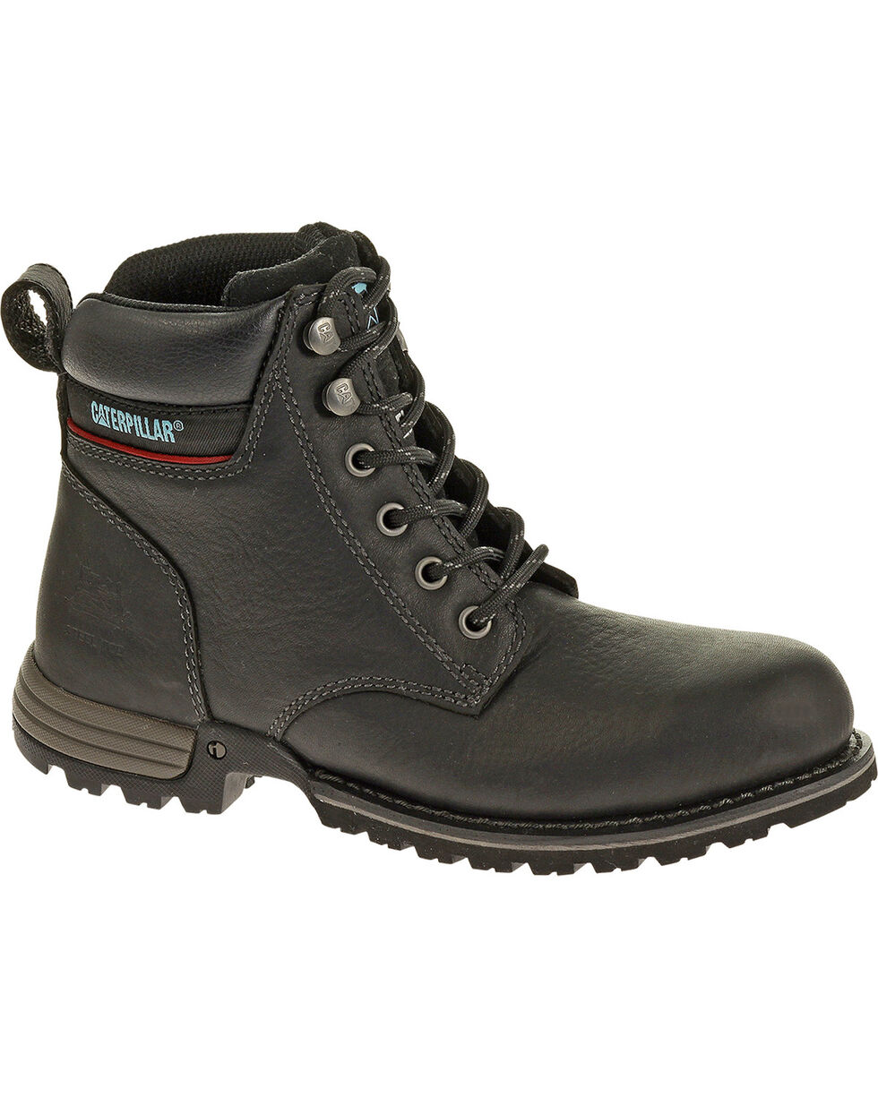 CAT Women's Freedom Steel Toe Work Boots, Black, hi-res