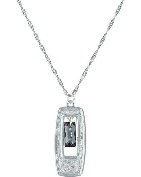 Montana Silversmiths Women's Elegant Western Doorway Necklace , Silver, hi-res