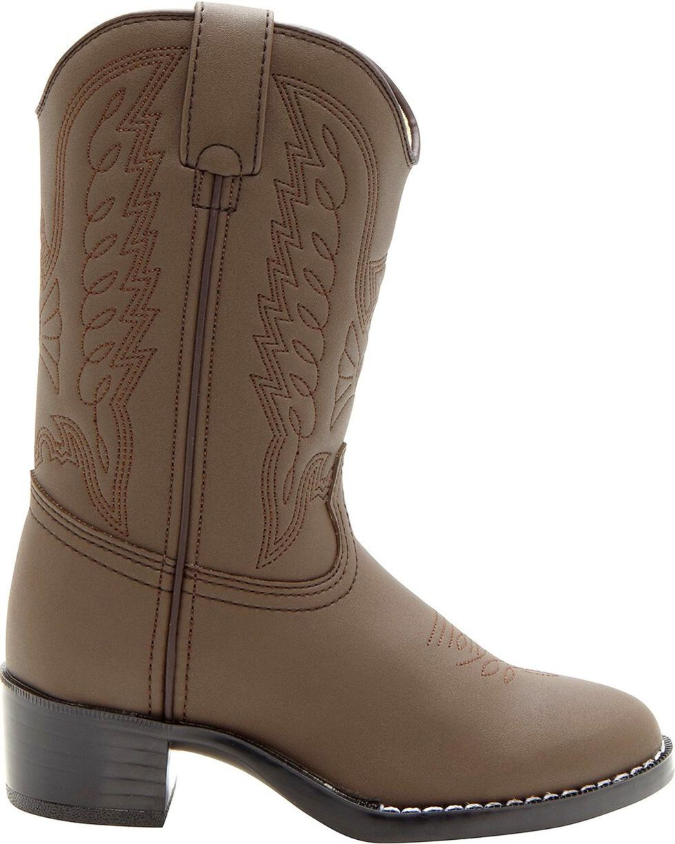 Durango Youth Stitched Western Boots, Brown, hi-res