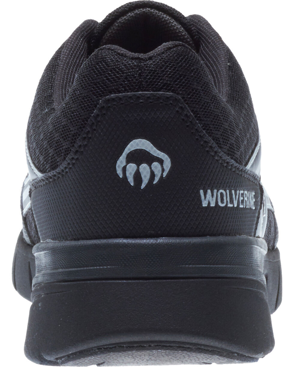 Wolverine Men's Jetstream Work Shoes - Composite Toe, Black, hi-res