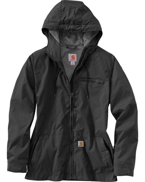 Carhartt Women's Rockford Windbreaker Waterproof Jacket, Black, hi-res