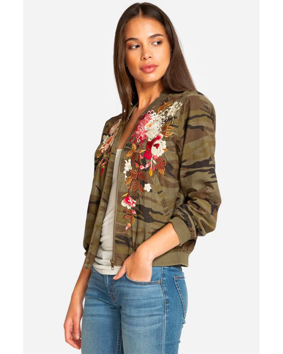 Johnny Was Women's Camo Chrystie Bomber Jacket , Camouflage, hi-res