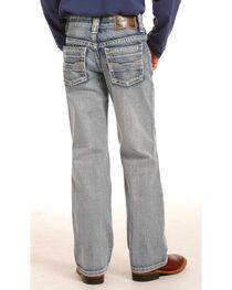 Rock & Roll Cowboy Boys' Indigo (7-20) Gun Light Wash Jeans - Boot Cut , , hi-res