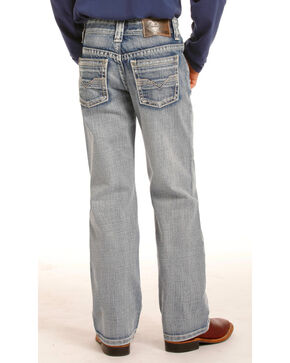 Rock & Roll Cowboy Boys' (7-20) Gun Light Wash Jeans - Boot Cut , Indigo, hi-res