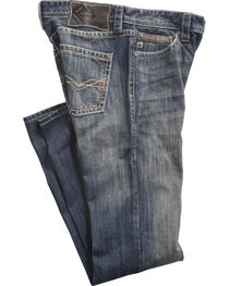 Rock & Roll Cowboy Men's Blue Pistol Jeans - Boot Cut , , hi-res