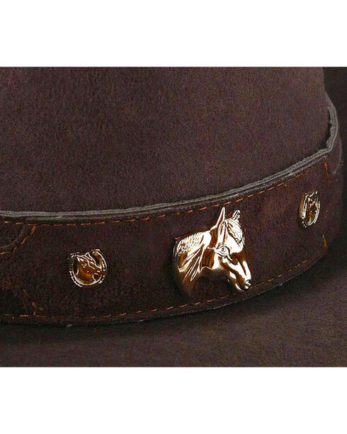 Cody James® Kid's Wool Cowboy Hat, Chocolate, hi-res