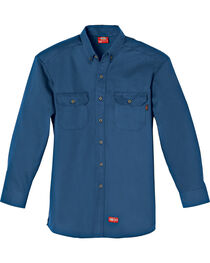 Dickies Flame Resistant Twill Work Shirt, Navy, hi-res