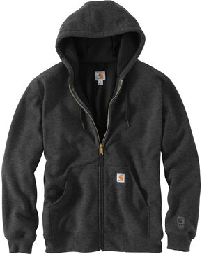 Carhartt Men's Hooded Zip-Up Sweatshirt, Charcoal, hi-res