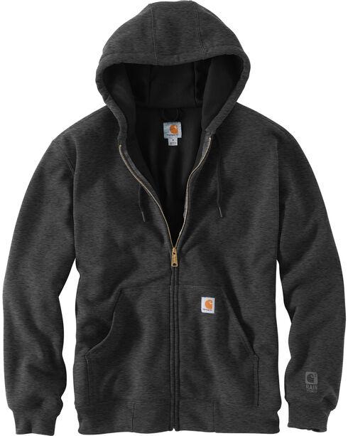 Carhartt Men's Hooded Zip-Up Sweatshirt, Charcoal, hi-res
